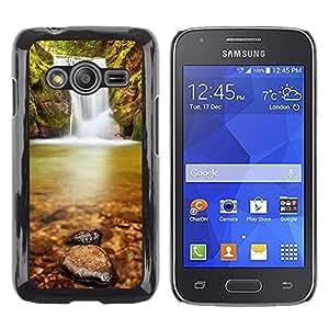 Smartphone Rígido Protección única Imagen Carcasa Funda Tapa Skin Case Para Samsung Galaxy Ace 4 G313 SM-G313F Wateerfall Nature / STRONG