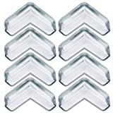 Blulu Baby Safety Anti-Collision Edge Corner Guard Protector (Clear, 8 Pack)