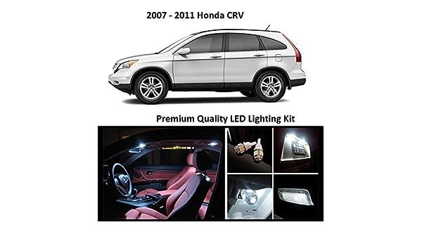 2007 - 2012 Honda CRV Premium blanco LED Interior Paquete (8 piezas): Amazon.es: Coche y moto