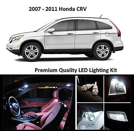 2007 – 2012 Honda CRV Premium blanco LED Interior Paquete (8 piezas)