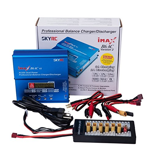 Hobby Battery Chargers (MEEDEN Authentic SKYRC IMAX B6AC V2 2S-6S RC Balance Battery Charger and Discharger with Parallel Charging Board for RC Hobby LiPo LiIon LiFe NiCd NiMH Pb Lead Acid Batteries)
