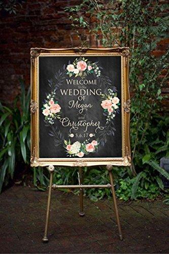 Digital Large Wedding Reception, Wedding Welcome Sign, Weddi