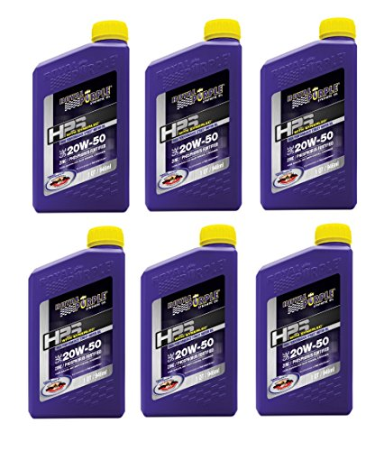 - Royal Purple 31250 HPS Street Synthetic Motor Oil 20W50 Pack of 6 Quarts