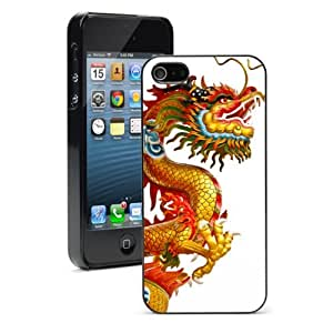 Apple iPhone 4 4S 4G Black 4B518 Hard Back Case Cover Color Chinese Dragon