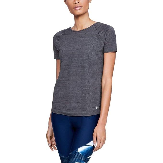 4c99882c Under Armour Women's Tb Seamless Spacedye Short sleeve Shirts, Black  (001)/Metallic