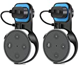 Outlet Wall Mount Hanger Stand 2pack for Amazon Echo Dot 2nd Generation,Honrane Original Design Portable bracket for Home Voice Assistants Plug in Kitchens,Bathroom And Bedroom (2pc-black)