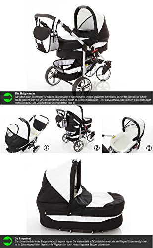 Chilly Kids Matrix II cochecito Safety de verano de Juego (sombrilla, Auto asiento & Base Isofix, protector de lluvia, mosquitera, ruedas giratorias) 23 Schwarz & Schwarz 10 Bordeaux & Rosa