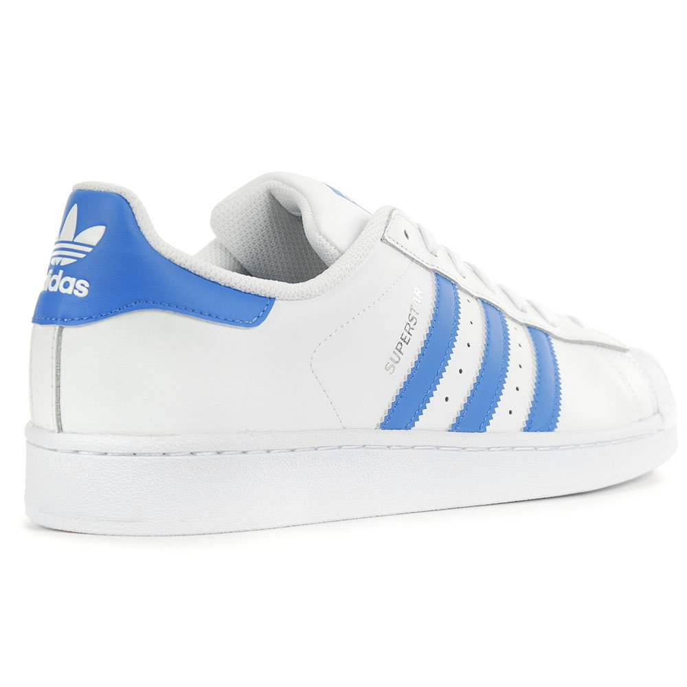 Adidas Herren Superstar Superstar Herren Turnschuhe Weiß/Ray Blau d86b34
