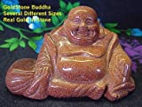 "Real Goldstone Buddha - 3 Sizes Available (4"" Wide)"