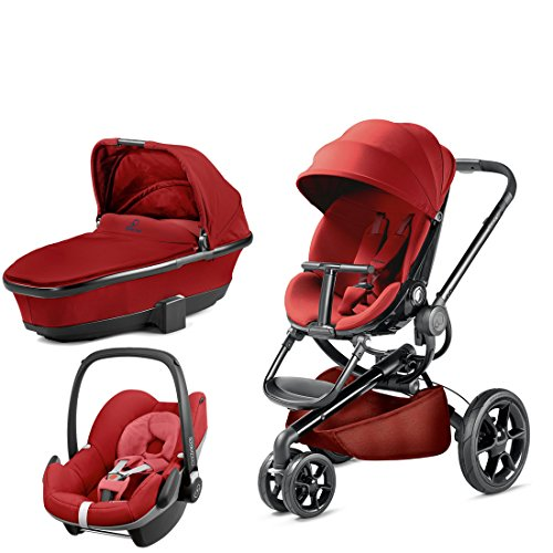 Quinny Moodd with Carrycot Red Rumour and Pebble Red Rumour