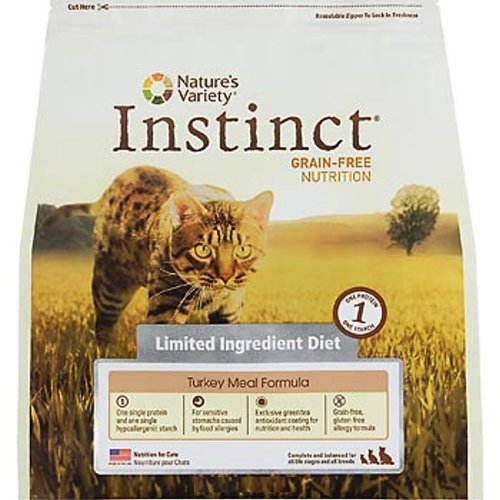 Instinct Grain-Free Turkey Meal Formula Limited Ingredient Diet Dry Cat Food by Nature's Variety, 12 lb bag, My Pet Supplies
