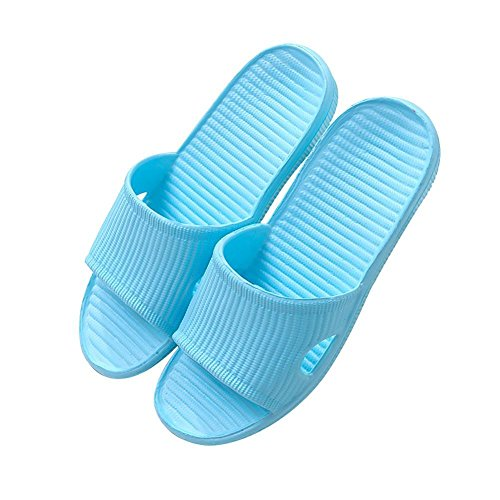 Beauty sparkler 1Pair Blue Women Bathroom Bathing Non-Slip Slippers Summer Home Soft Shower Sandal