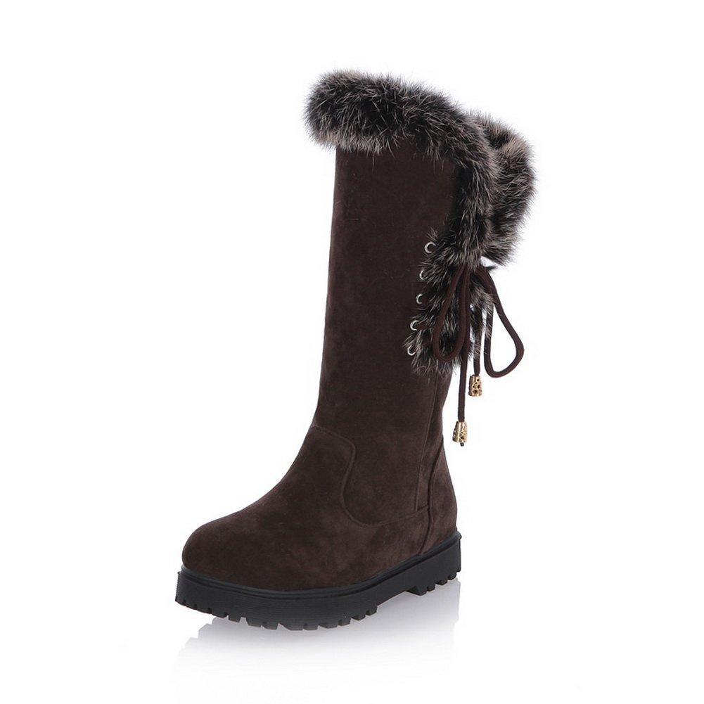 AdeeSu - Botas de nieve mujer36.5 EU|marrón