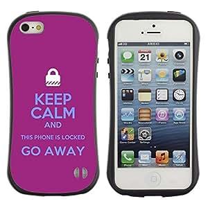 Suave TPU GEL Carcasa Funda Silicona Blando Estuche Caso de protección (para) Apple Iphone 5 / 5S / CECELL Phone case / / Locked Padlock Purple Text Hands /