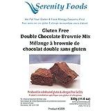 Serenity Foods Gluten Free Double Chocolate Brownie Mix (Hypoallergenic)