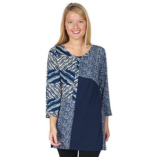 Womens Tunic Top Geometric Patchwork product image