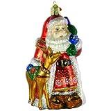 Old World Christmas Nordic Santa Glass Blown Ornament