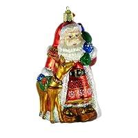 Image of Pretty Glass Santa Claus Ornament