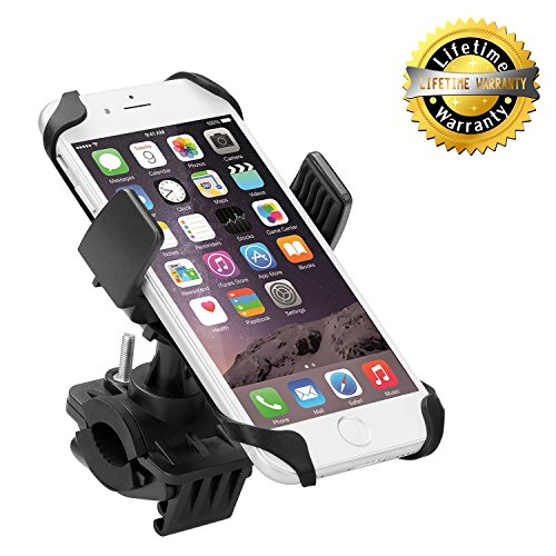 Levin Universal Smartphone Bike Mount Holder with 360 Degree Rotate for iPhone 6S/6/5S/5C/5, Samsung...