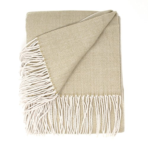Manor Cream (Good Manors Herringbone Throw Blanket, Lightweight, Woven, Snag & Fade Resistant, Casual, Cozy, Warm, Soft, Indoor/Outdoor Use, Everyday Use - 50 x 60 - Champagne (Herringbone Cream))