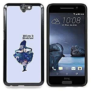 "Planetar ( Floral pétalos rosados ??Wallpaper Vintage"" ) HTC One A9 Fundas Cover Cubre Hard Case Cover"