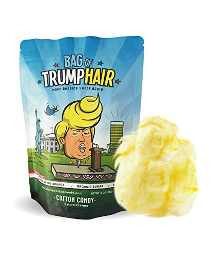 BAd Thread Bag of Trump Hair| 3oz of Cotton Candy (Organic Sugar, Natural Flavoring, Gluten Free) | Funny Bipartisan Donald Trump Gag Gift for Friends, Moms, Dads, Grads, Birthday Boys or Girls from BAd Thread