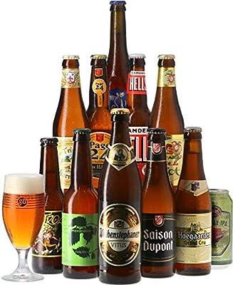 HOPT - Colección de cervezas rubias - Paquete de 11 cervezas (25 a 50 cl) y 1 vaso de 25 cl - El regalo ideal: Amazon.es: Alimentación y bebidas