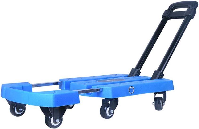 Carrito para El Hogar Carretilla De Jardín Cinta Plegable Carrito Remolque Portátil Carro De Equipaje Al Aire Libre, con Capacidad De 200 Kg (Color : Blue, Size : 57 * 31 * 94cm): Amazon.es: Hogar