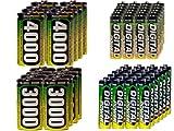 24 AA (2600 mAh) + 24 AAA (1200 mAh) + 8 C (3000 mAh) + 8 D (4000 mAh) NiMH AccuPower Batteries