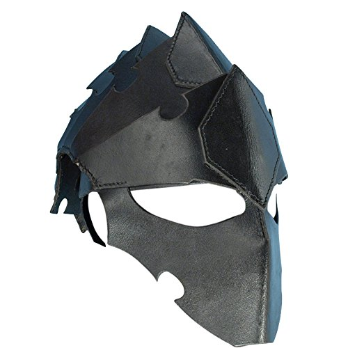 Armor Venue Assasins Leather Helmet Head Armour Black (Suit Of Armor Helmet)