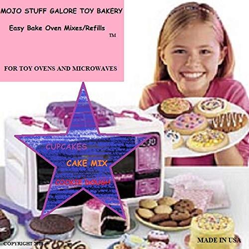 Mojo Stuff Galore Toy Bakery Easy Bake Oven Mixes Refills Super Pack (3 PACK Bundle) (Easy Bake Oven Mixes Red Velvet)