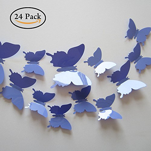 Cheap  Neele 24pcs 3D Butterfly Removable Mural Stickers Wall Stickers Decal for Home..