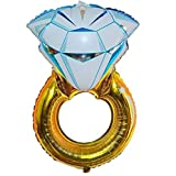 Zebratown Large Foil Balloons 43inch Gold Diamond Ring Helium Balloons Bridal Shower Party Décor