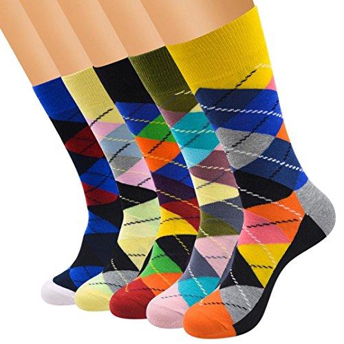 Fheaven 5 Pcs Women Cute Little Animal Dot Warm Socks Tube Socks Winter (5PCS 2) by Fheaven