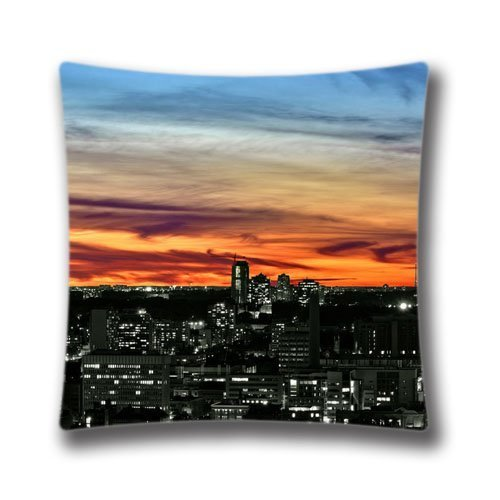 Chair Pillow case Toronto Sunset Square Pillowcase Cushion Cover Throw Pillow Case with Hidden Zipper Closure 18X18 inches