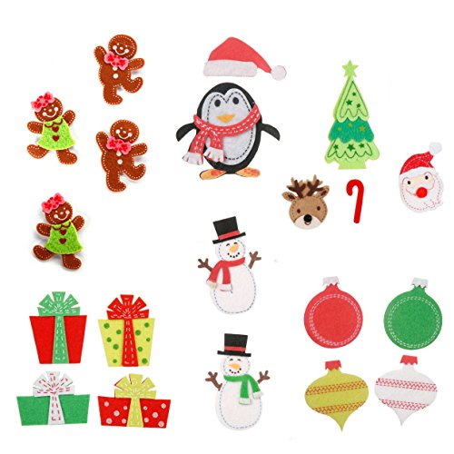 Felties Christmas Holiday Felt Stickers (Pack of 6) - Snowman,
