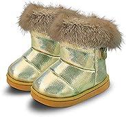 WYSBAOSHU Warm Girl's Winter Snow Boots Outdoor Fur S