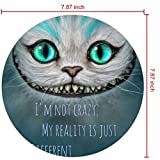 DISNEY COLLECTION Mouse Pad Round Mouse Pad Alice in Wonderland Cat Treasure Cute