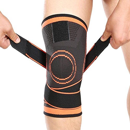 (Vitoki Compression Knee Sleeve Knee Brace for Men & Women Knee Support for Running, Crossfit, Basketball, Pain Relief, Meniscus Tear Arthritis ACL MCL Faster Recovery Adjustable Strap Single Wrap)