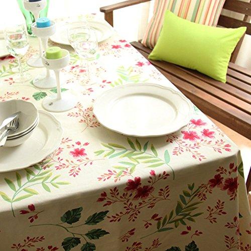 (KINGDESON Cotton Linen Rectangle Vintage Tablecloth Polyester Multi Sized)