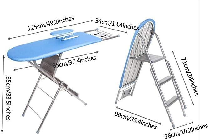 Mr.T Plegado hogar Tabla de Planchar Escalera de Planchar Plegable Hogar Grande de Acero Reforzado Plancha Tabla de Planchar Neto Cargando Peso Tabla de Planchar: Amazon.es: Hogar