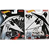 Hot Wheels 2017 Mad - Spy Vs Spy Set of Two '66 Dodge A100 - One Black & One White Spy