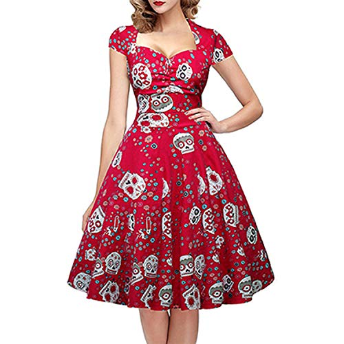 SummerDress Retro Patchwork Floral Print -