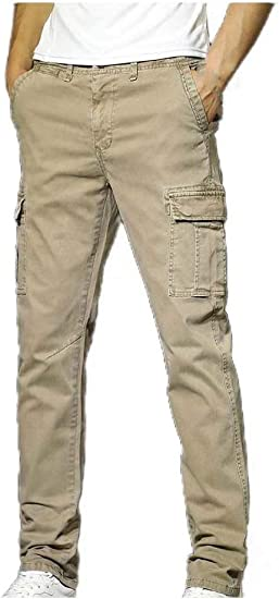 AngelSpace ポケットの男性耐久ヴィンテージ戦術的なズボンカジュアルなズボン