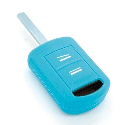 Funda de llave de silicona para Opel Corsa Agila Meriva Astra, color azul claro