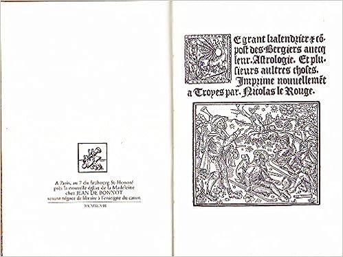 Le Calendrier des Bergers/ Le Grant Kalendrier et Compost des Bergiers acecq leurs Astrologie et plusieurs autres choses.
