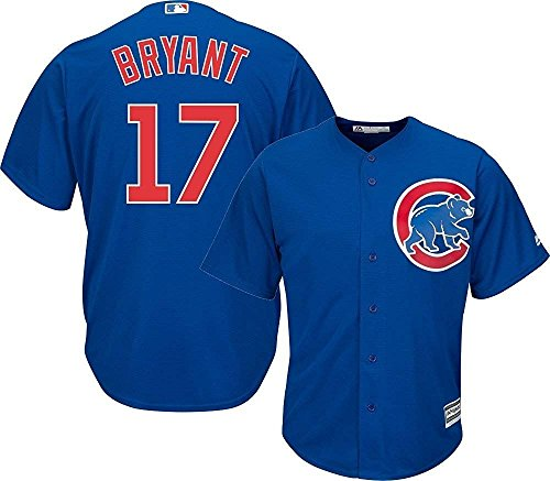 Majestic Kris Bryant Chicago Cubs MLB Kids Blue Alternate Cool Base Replica Jersey (Kids (Womens Mlb Replica Jersey)