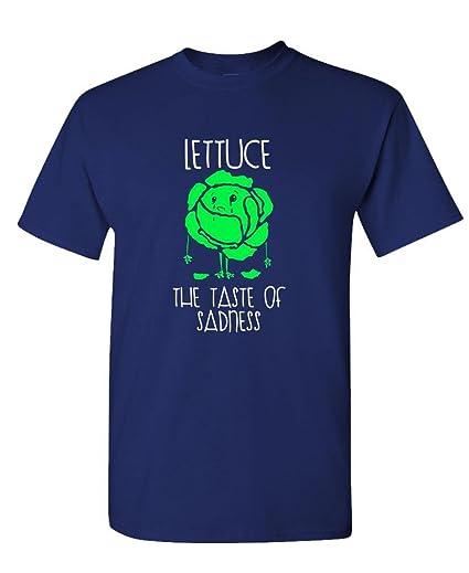 8e2cd4b45 Amazon.com: Lettuce - The Taste Sadness Funny Joke - Mens Cotton T ...