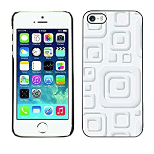 Slim Design Hard PC/Aluminum Shell Case Cover for Apple Iphone 5 / 5S Minimalist White Pattern / JUSTGO PHONE PROTECTOR