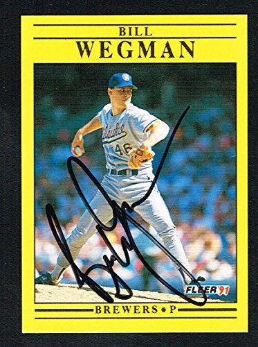 Bill Wegman #U-35 signed autograph auto 1991 Fleer Baseball Trading ()